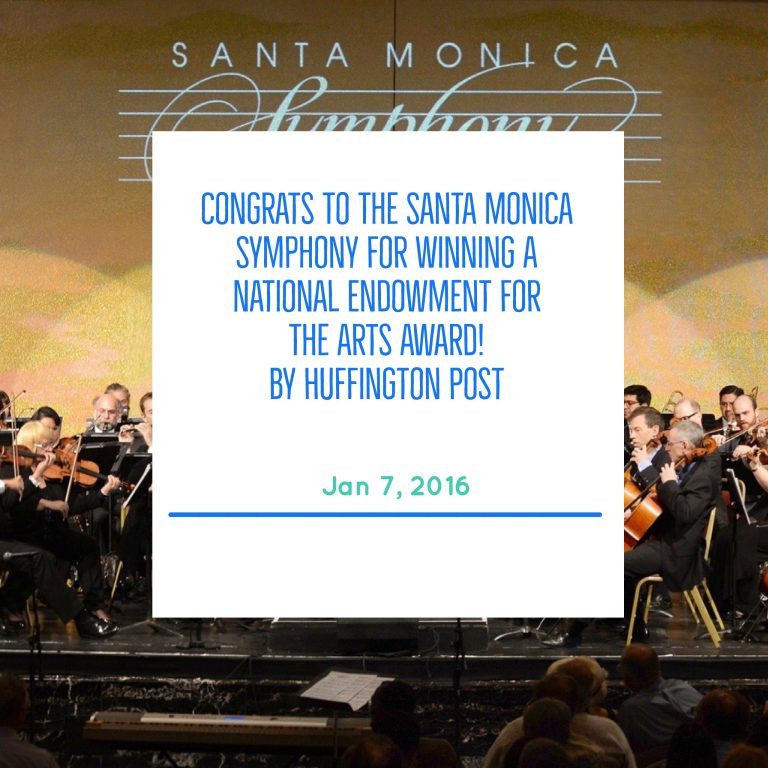 Congrats to the Santa Monica Symphony for winning a national endowment for the arts award!